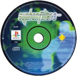 Artwork on the CD for Syphon Filter 3 on the Sony Playstation.