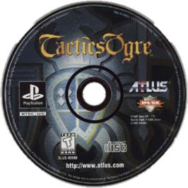 Artwork on the CD for Tactics Ogre on the Sony Playstation.