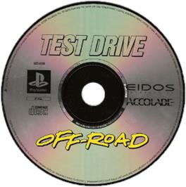 Artwork on the CD for Test Drive: Off-Road on the Sony Playstation.