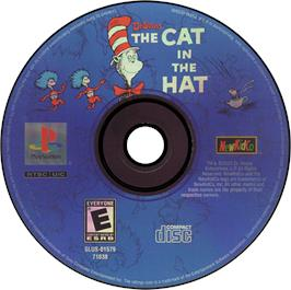 Artwork on the CD for The Cat in the Hat on the Sony Playstation.