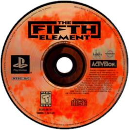 Artwork on the CD for The Fifth Element on the Sony Playstation.