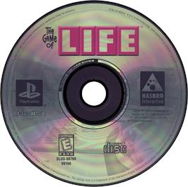 Artwork on the CD for The Game of Life on the Sony Playstation.