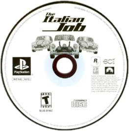 Artwork on the CD for The Italian Job on the Sony Playstation.