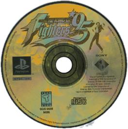 Artwork on the CD for The King of Fighters '95 on the Sony Playstation.