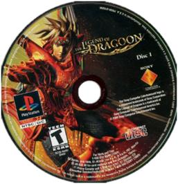 Artwork on the CD for The Legend of Dragoon on the Sony Playstation.