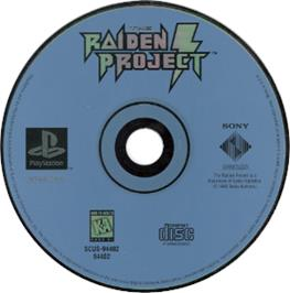 Artwork on the CD for The Raiden Project on the Sony Playstation.