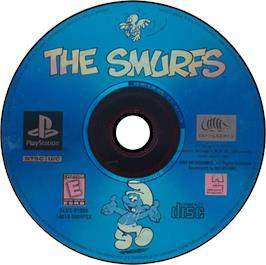 Artwork on the CD for The Smurfs on the Sony Playstation.