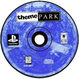 Artwork on the CD for Theme Park on the Sony Playstation.