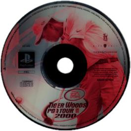Artwork on the CD for Tiger Woods PGA Tour 2000 on the Sony Playstation.