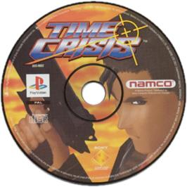 Artwork on the CD for Time Crisis: Project Titan on the Sony Playstation.