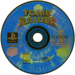 Artwork on the CD for Tomb Raider: The Last Revelation on the Sony Playstation.