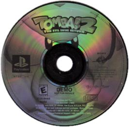 Artwork on the CD for Tomba! 2: The Evil Swine Return on the Sony Playstation.