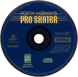 Artwork on the CD for Tony Hawk's Pro Skater on the Sony Playstation.