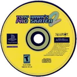 Artwork on the CD for Tony Hawk's Pro Skater 2 on the Sony Playstation.