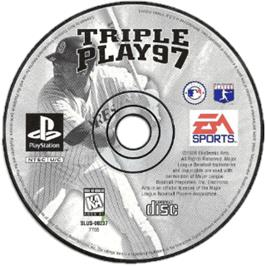 Artwork on the CD for Triple Play 97 on the Sony Playstation.