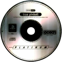 Artwork on the CD for True Pinball on the Sony Playstation.