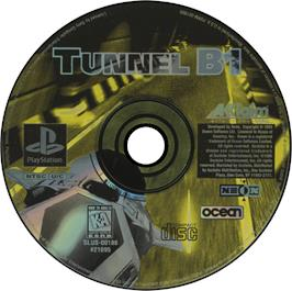 Artwork on the CD for Tunnel B1 on the Sony Playstation.