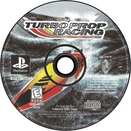 Artwork on the CD for Turbo Prop Racing on the Sony Playstation.
