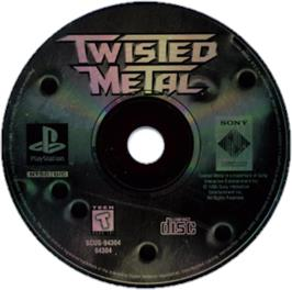 Artwork on the CD for Twisted Metal on the Sony Playstation.