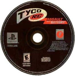 Artwork on the CD for Tyco R/C: Assault with a Battery on the Sony Playstation.
