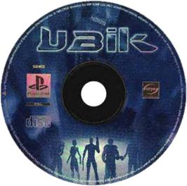 Artwork on the CD for UBIK on the Sony Playstation.