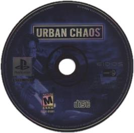 Artwork on the CD for Urban Chaos on the Sony Playstation.