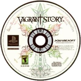 Artwork on the CD for Vagrant Story on the Sony Playstation.