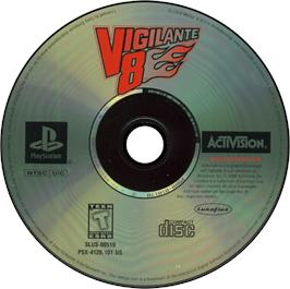 Artwork on the CD for Vigilante 8 on the Sony Playstation.