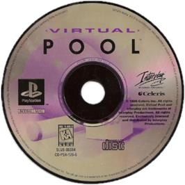 Artwork on the CD for Virtual Pool on the Sony Playstation.