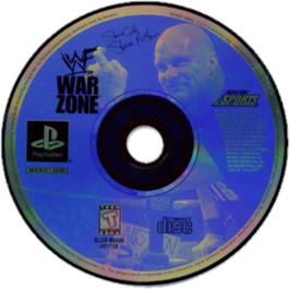 Artwork on the CD for WWF War Zone on the Sony Playstation.