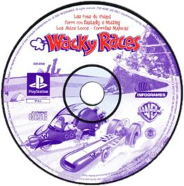 Artwork on the CD for Wacky Races on the Sony Playstation.