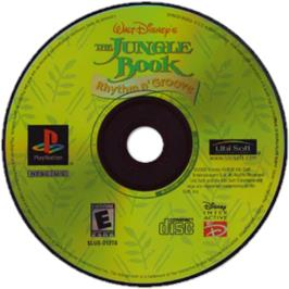 Artwork on the CD for Walt Disney's The Jungle Book: Rhythm n' Groove on the Sony Playstation.