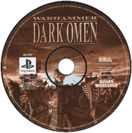 Artwork on the CD for Warhammer: Dark Omen on the Sony Playstation.