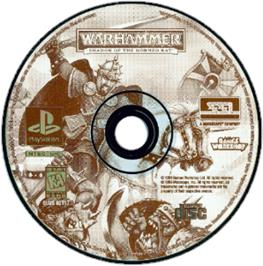 Artwork on the CD for Warhammer: Shadow of the Horned Rat on the Sony Playstation.