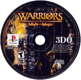 Artwork on the CD for Warriors of Might and Magic on the Sony Playstation.