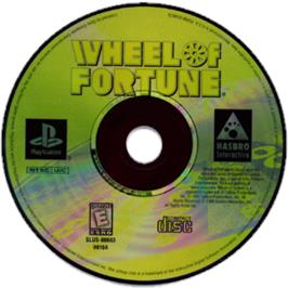 Artwork on the CD for Wheel of Fortune on the Sony Playstation.