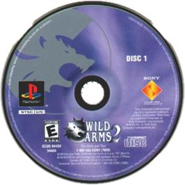 Artwork on the CD for Wild Arms 2 on the Sony Playstation.
