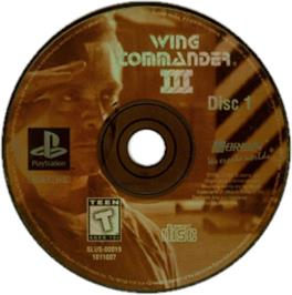 Artwork on the CD for Wing Commander III: Heart of the Tiger on the Sony Playstation.