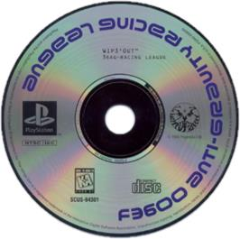 Artwork on the CD for Wipeout on the Sony Playstation.