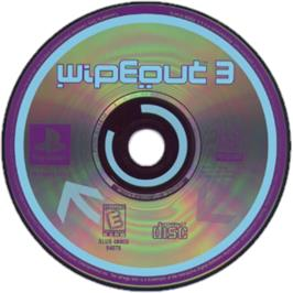 Artwork on the CD for Wipeout 3 on the Sony Playstation.