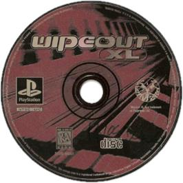 Artwork on the CD for Wipeout XL on the Sony Playstation.