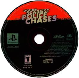Artwork on the CD for World's Scariest Police Chases on the Sony Playstation.