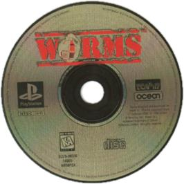 Artwork on the CD for Worms on the Sony Playstation.