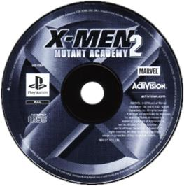 Artwork on the CD for X-Men: Mutant Academy 2 on the Sony Playstation.