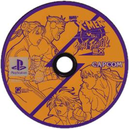 Artwork on the CD for X-Men vs. Street Fighter on the Sony Playstation.