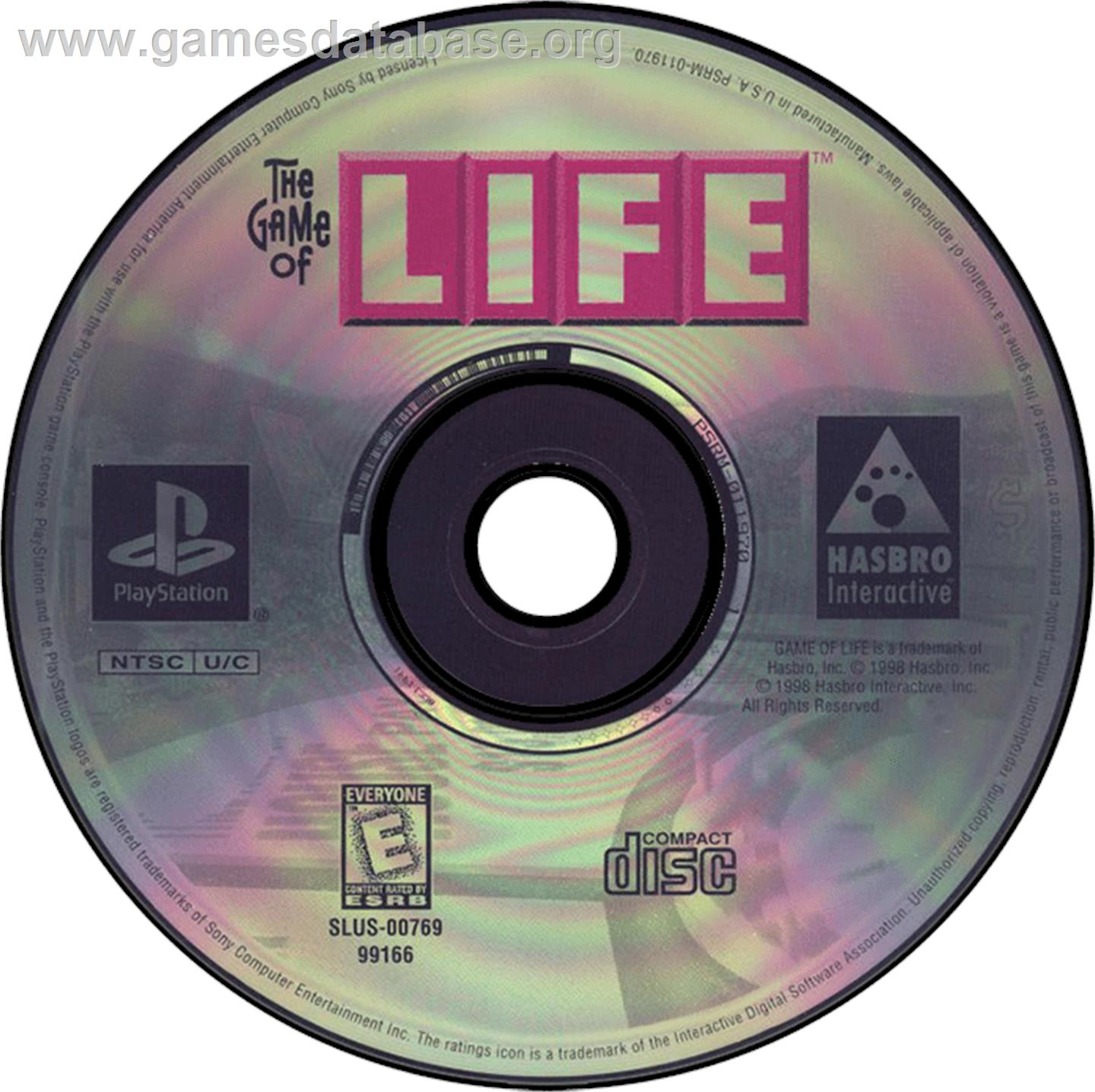 The Game of Life - Sony Playstation - Artwork - CD