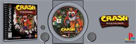 Arcade Cabinet Marquee for Crash Bandicoot.