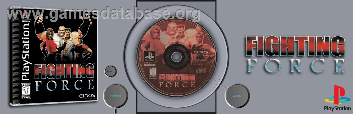 Fighting Force - Sony Playstation - Artwork - Marquee