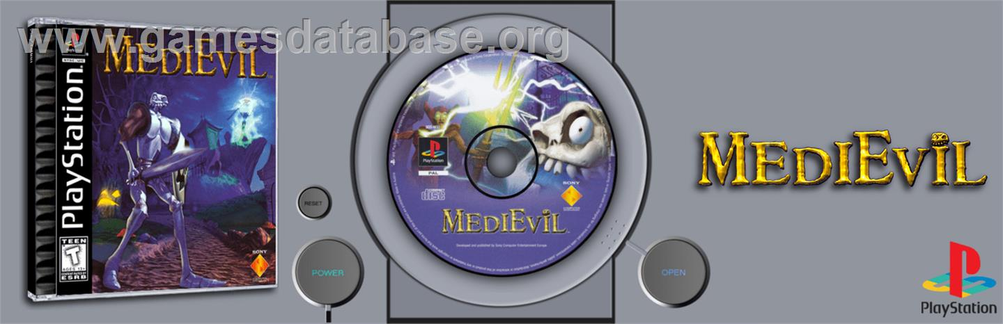 MediEvil - Sony Playstation - Artwork - Marquee