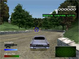 In game image of 007: Racing on the Sony Playstation.